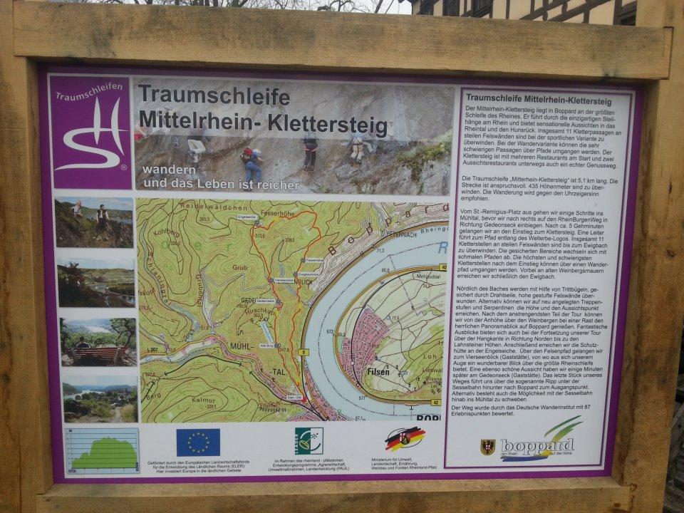 Geführte Klettersteig Tour in Boppard am Rhein